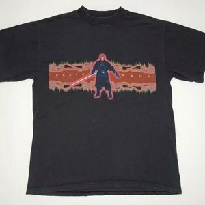 Vintage Darth Maul T-Shirt Double Sided Dark Side